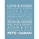 Personalised Perfect Partners Art Print