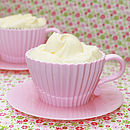 Set Of Two Tea Cup Cake Moulds