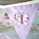 Personalised lilac girl's butning