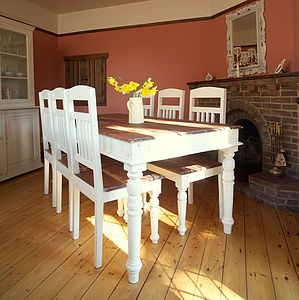 Chantilly Distressed Dining Table