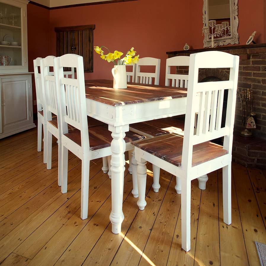 Chantilly Distressed Dining Table By Little Tree Furniture