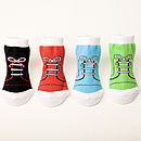 Set Of Four High Top Baby Socks