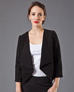 Alicia Draped Blazer - coats & jackets