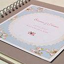 Personalised Rose Design Wedding Guest Book