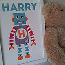 Children's Personalised Robot Print