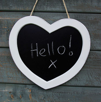 White Heart Chalk Board