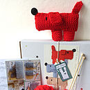 Scruff The Dog Knit Kit- notonthehighstreet