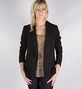 Caja Black Tuxedo Jacket - women's fashion