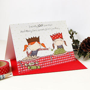 'Macy Loves Sprouts' Christmas Card - cards & wrap