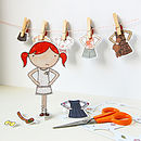 Clara Paper Doll Signature Outfits