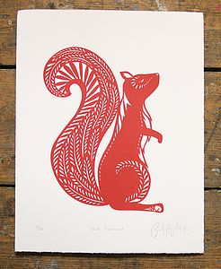 Red Squirrel Limited Edition Print - limited edition art