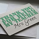 Personalised 'Thank You Teacher' Card