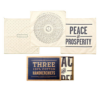 Set Of Three Stars Handkerchiefs