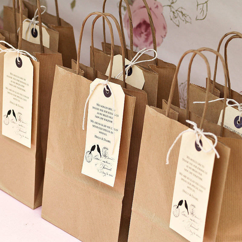 thank you cotton bag for wedding favours by the wedding of my dreams 1 ...