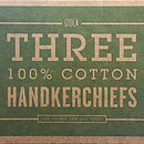'Forrest' Green Box Of Three Handkerchiefs