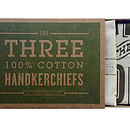Set Of Three Forest Handkerchiefs