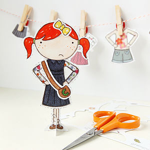 Clara Paper Doll Signature Outfits - pretend play & dressing up