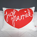 'Just Married' Wedding Cushion