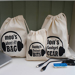 Men's Or Women's Personalised Gadget Bag - gifts for men