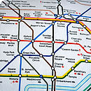 Central London Tube Map Cushion Detail