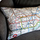 Underground Map Cushion On Sofa