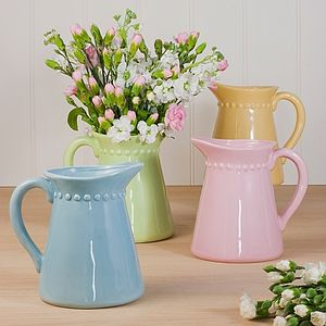 Pastel Ceramic Jug - weddings sale