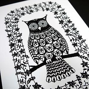 Flower Owl Print
