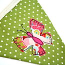 pink and green butterfly bunting