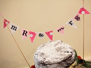 'Mr & Mrs' Bunting Cake Topper - shop by category