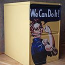 'We Can Do It' Metal Cabinet