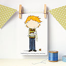 Little Boy Notecard