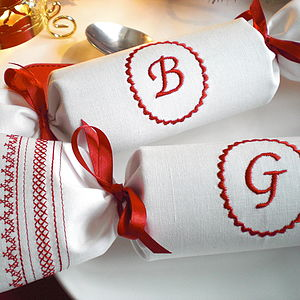 Monogrammed Reusable Christmas Cracker - as seen in the press