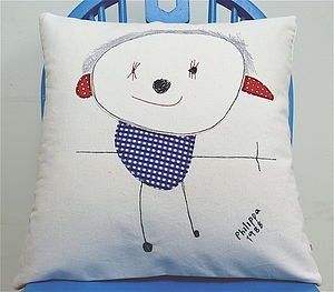 Your Child's Drawing On A Cushion - children's room