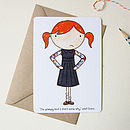 Clara The Grumpiest Girl Postcard