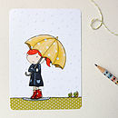 Clara In The Rain Postcard