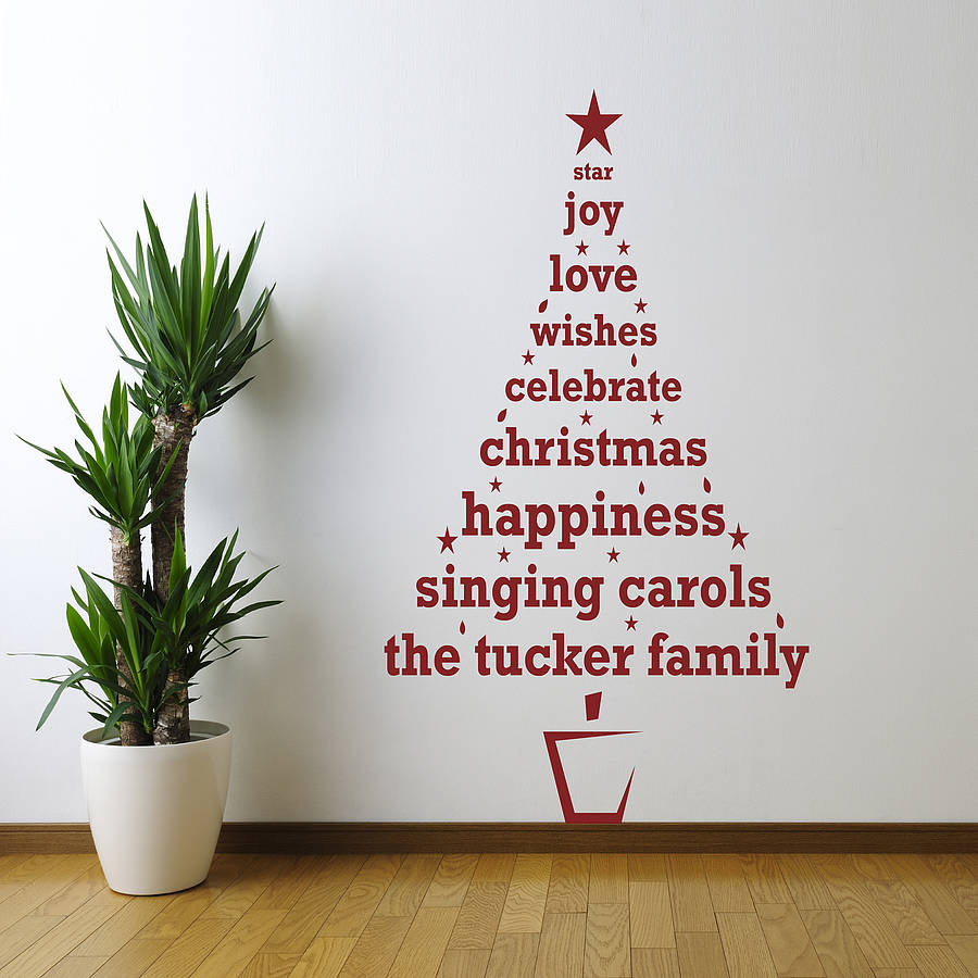 Personalised Christmas Tree Wall Sticker Part 13