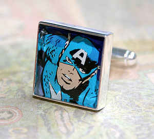 Personalised Recycled Comic Cufflinks - men's jewellery