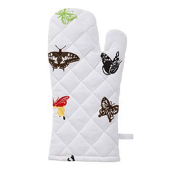 Organic Butterfly Print Oven Glove