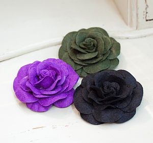 Felt Flower Brooch Or Hair Clip