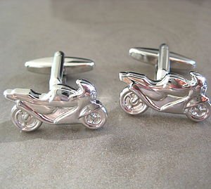 Motorbike Cufflinks - men's jewellery