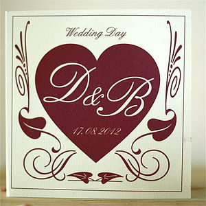 Personalised Deco Heart Card