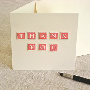 Handmade 'Thank You' Card - shop by category