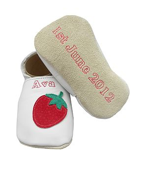 Personalised Baby Girl Strawberry Shoes