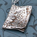 Handmade Silver Book Necklace