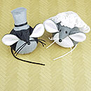 Handmade Bride And Groom Mice