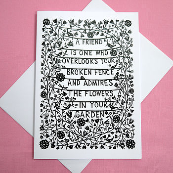 'A Friend Is' Greetings Card