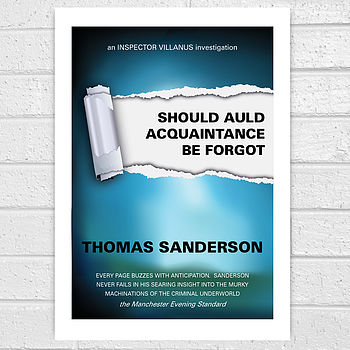 Personalised Thriller Book Cover Print