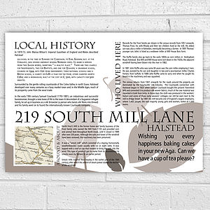 Personalised House History New Home Print - posters & prints