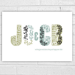 Personalised Wedding Initials Print