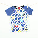 Children's Starprint T shirt - Blueberry